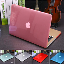 Cover Crystal Transparent case For Apple macbook Air Pro Retina 11 12 13 15 laptop bag for macbook Air 13 case cover Cutout Logo(China (Mainland))