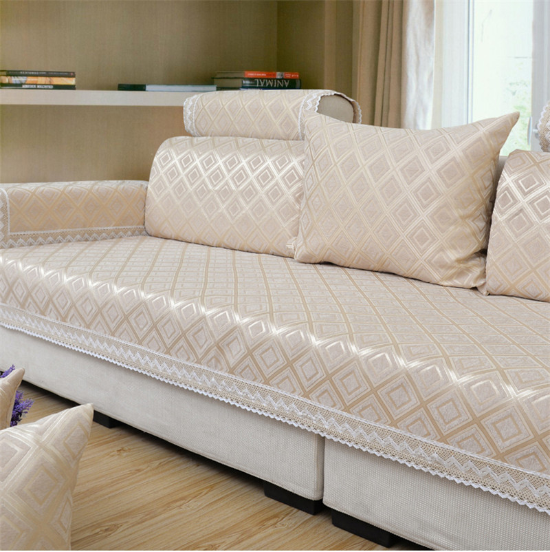 Aliexpresscom buy modern brief plaid sofa covers for How to cover furniture with fabric