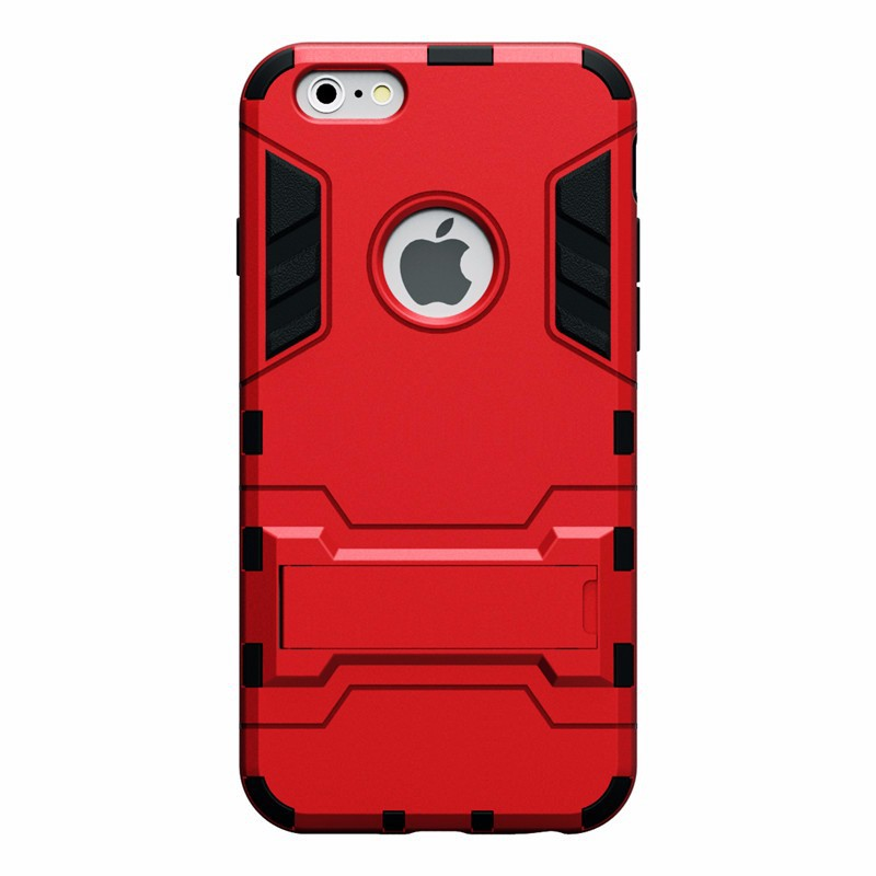 TOP High Quality Hybrid Plastic 2 In 1 Hard Armor Shockproof With Stand Function Cover For iphone 6(S) Plus 5.5in Cases BSJK0079