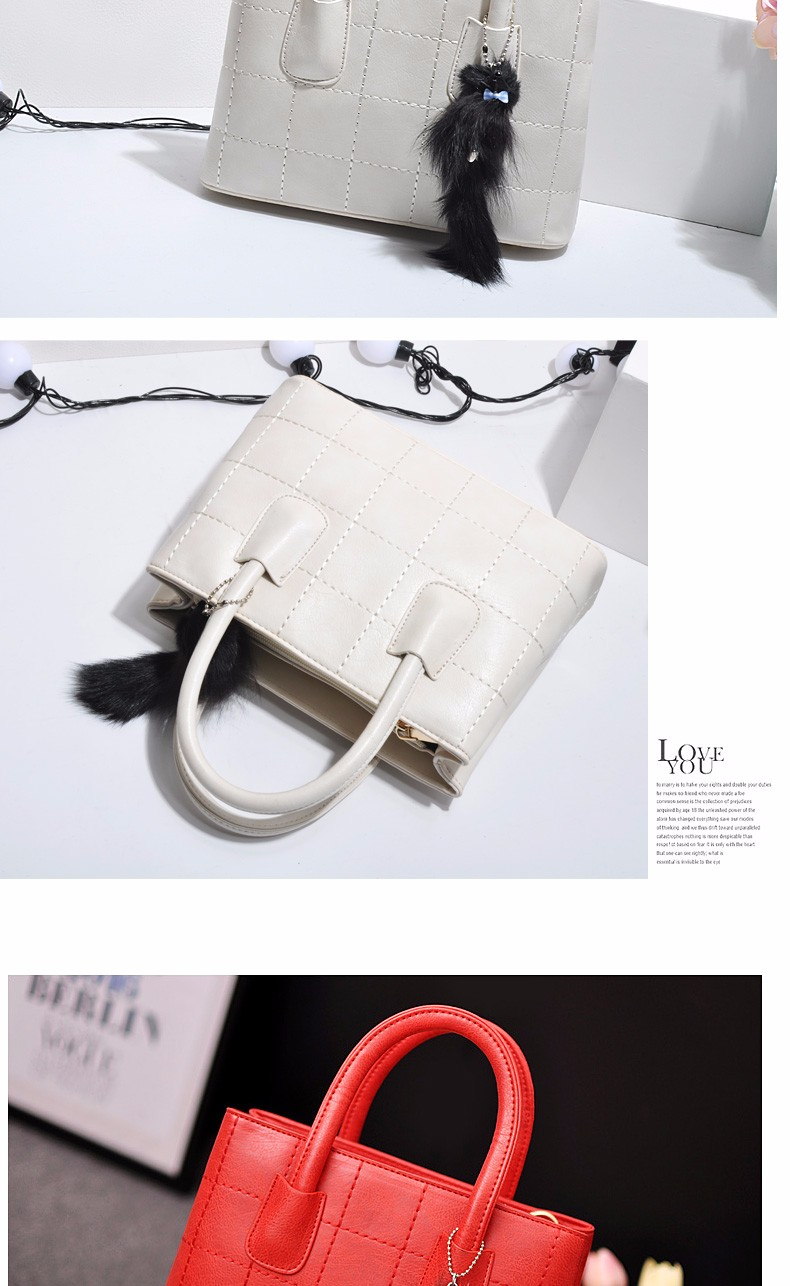 Designer&Simple Women Retro Handbag Fashion Plaid Sweet Style Shoulder Bag Ladies Vintage Fresh PU Crossbody Bag