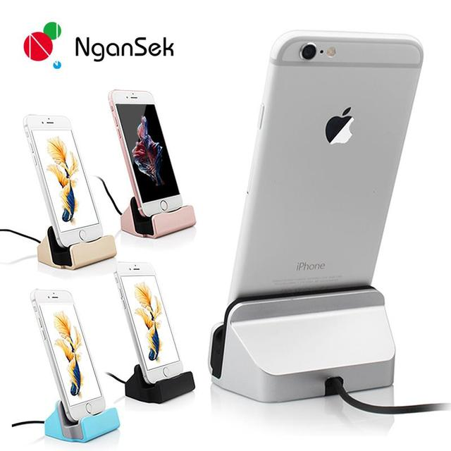 Dock For Apple iPhone 5 5S SE 6 7 6s Plus 7Plus High Quality Sync Data Charging Dock Station Desktop Docking Charger USB Cable