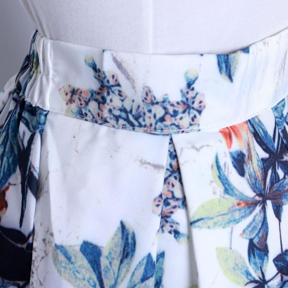HTB1ELWkQFXXXXX XVXXq6xXFXXXZ - GOKIC 2017 Summer Women Vintage Retro Satin Floral Pleated Skirts Audrey Hepburn Style High Waist A-Line tutu Midi Skirt