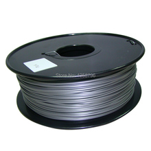 silver color Makerbot/reprap/mendel/UP 3D printer filaments ABS/PLA 1.75mm/3mm 1kg(2.2lb)