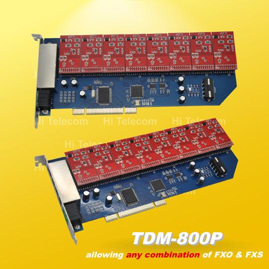 Free drivers TDM800P 8 Ports 8 FXO asterisk card for voip ippbx ip pbx elastix trixbox call center