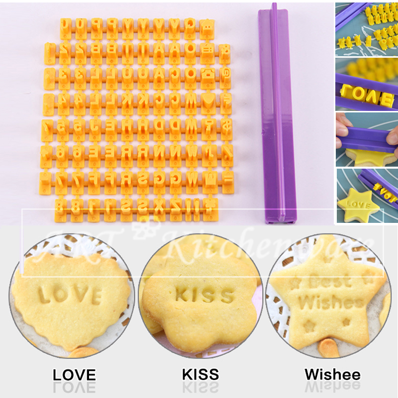 Cake Decorating Letterpress : Alphabet Number Cookies Biscuit Letter Stamp Letter and ...