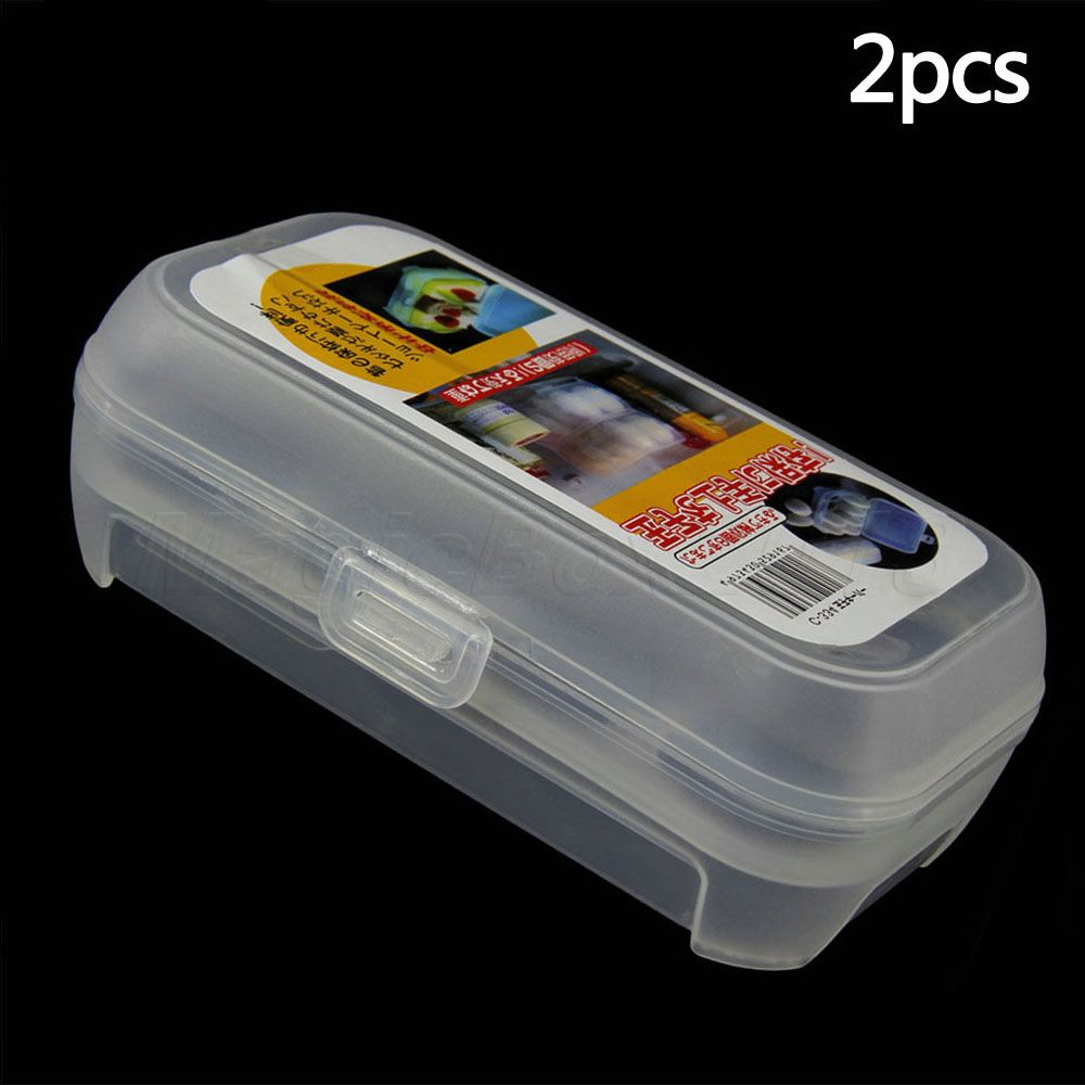 Good Quality 2PCS Plastic Food Case Folding Eggs Carring Box Fridge Saving Holder Home Kitchen Supplies(China (Mainland))