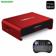 Buy Shinsklly T95U PRO Android 6.0 Smart TV Box 2GB/16GB Amlogic S912 Octa core Dual Band WiFi Kodi VP9 H.265 UHD 4K Set top Player for $64.69 in AliExpress store