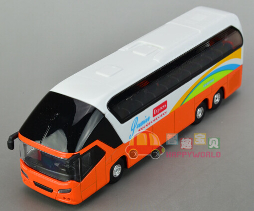 Gift for boy 19cm cool airport shuttle bus luxury tourist bus car alloy model acousto-optic pull back children game toy(China (Mainland))