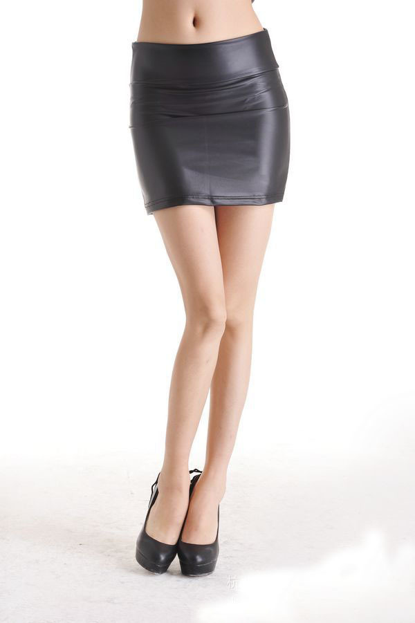 2015 Fashion Faux leather skirts high waist skirt package hip-in Skirts from Womenu0026#39;s Clothing ...
