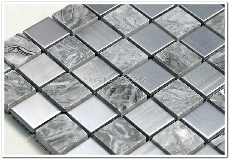 Natural stone Mosaic background wall brick art stainless steel building materials decoration materials Sitting room European(China (Mainland))
