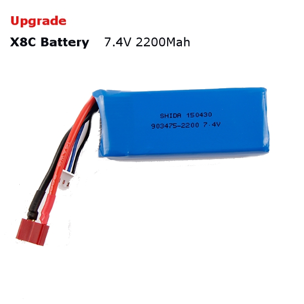 Wholesale rc helicopter parts Upgrade Syma X8C X8W Spare Part 7.4V 2200Mah 25C Battery(China (Mainland))