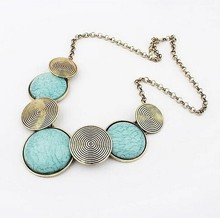 Star Jewelry Wholesale Maxi Necklace For Women 2015 New Design Fashion Geometric Thread Statement Necklaces & Pendants(China (Mainland))