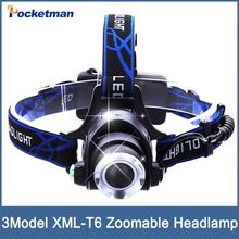 LED Headlight CREE T6 led headlamp zoom 18650 Head lights head lamp 2000lm XML-T6 zoomable lampe frontale LED flashlight(China (Mainland))