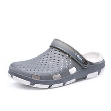 Uomini Casual Scarpe Estate Sandali Ciabatte Zoccoli Luce Traspirante Pistoni Della Spiaggia Degli Uomini Scarpe di Acqua Gelatina di Cava Chaussure Homme Pantofola(China)