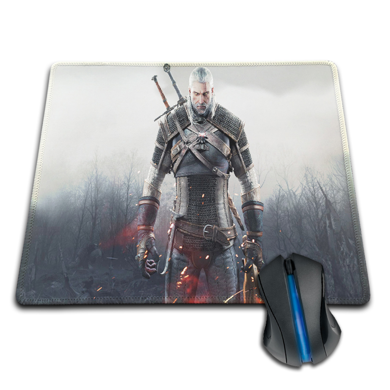 Witcher 3 Anti-Slip Rubber Mouse Mat 180*220mm 200*250mm or 250*290mm Pad Funny on-Slip Durable Rectangle Mouse Pad(China (Mainland))