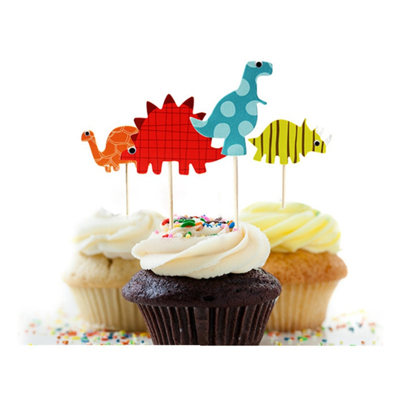 Cake Decoration Accessories : 48pcs Dinosaur Cupcake Toppers Picks, Funny Wedding Cake Toppers Cake Decorating Supplies Baby ...