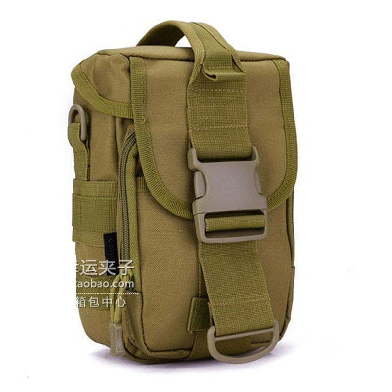 Cool Canvas Outdoor Tactical Waist Bag Crossbody Accessory Kit Travel Cycling Sports Hiking Camping Messenger Bag Free shipping(China (Mainland))