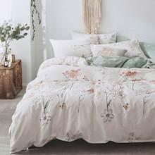 Svetanya Pastoral Cotton Bedding Set printing Bed Linens (sheet pillowcase Duvet Cover) Single double Queen King size(China)