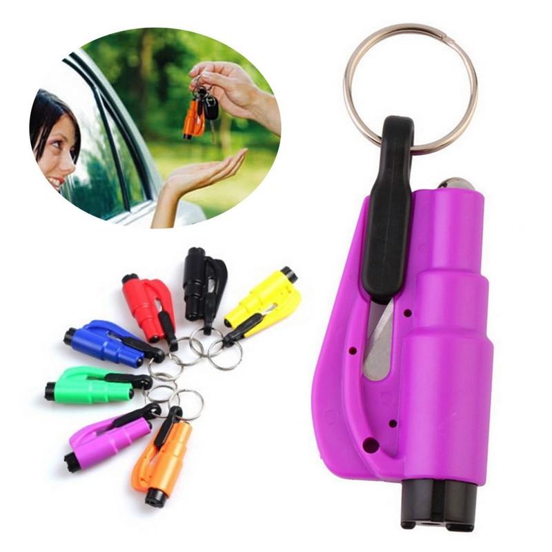 3 in 1 Emergency Mini Safety Hammer Auto Car Window Glass Breaker Seat Belt Rescue Hammer Escape Tool 2017 Hot