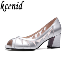 Buy Spring summer new genuine leather peep toe high heels fashion pumps breathable mesh sandals party shoes silver big size shoes 43 for $36.59 in AliExpress store