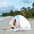 Sandy Beach UV Protection Quick Automatic Opening Beach Tent Protable Ultraviolet proof Summer Outdoor Sports Blue