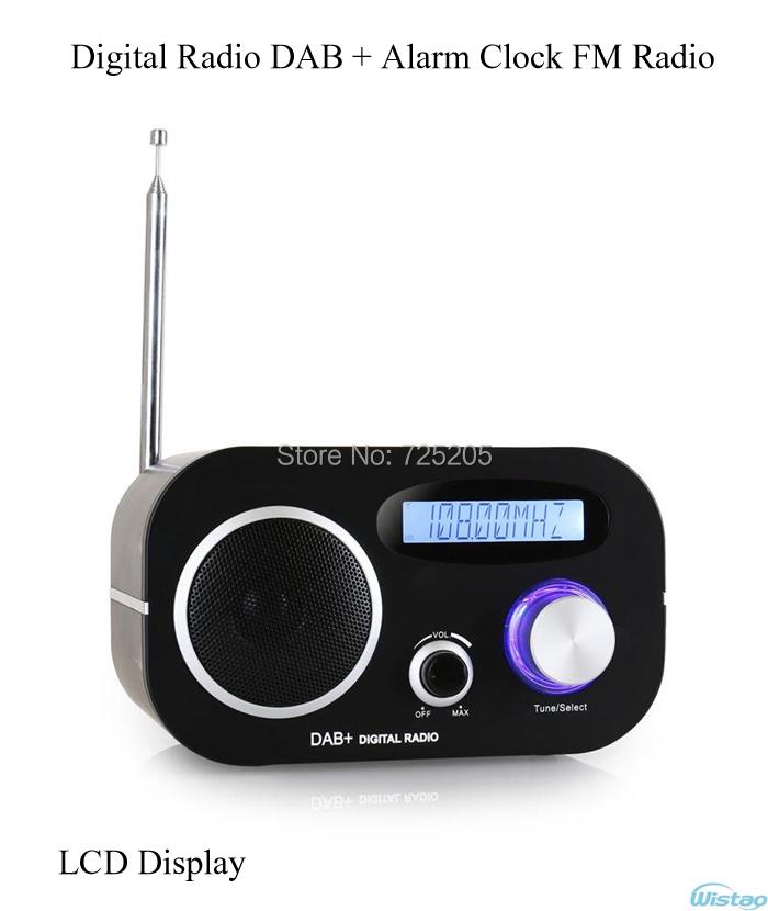 dab digital radio alarm clock fm radios lcd display. Black Bedroom Furniture Sets. Home Design Ideas
