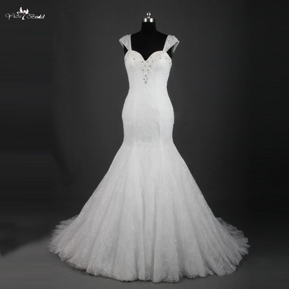 Buy rsw768 cap sleeve vintage lace for Bohemian mermaid wedding dress