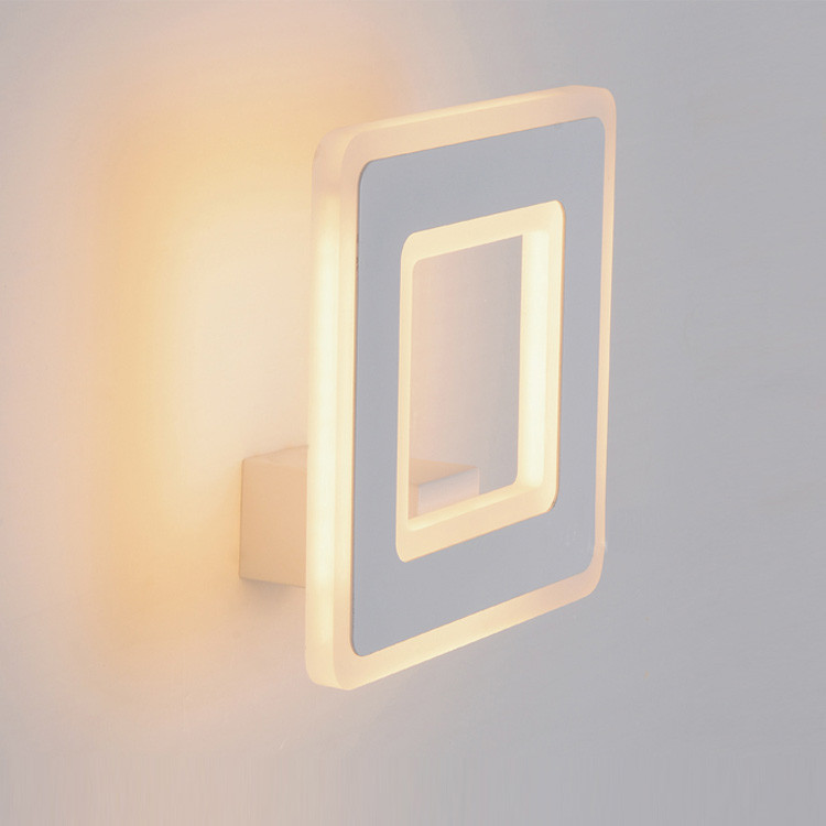Simple Bathroom Wall Sconces : 12W Square LED wall lamp simple luminaria bathroom wall lights led indoor light bedside wall ...