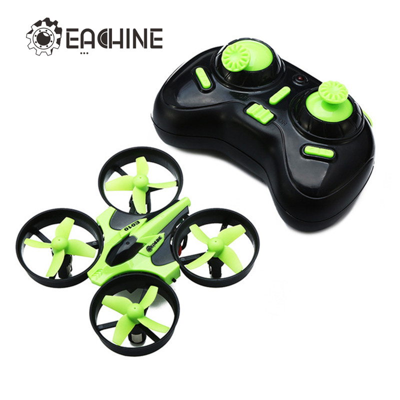 New Arrival Eachine E010 Mini 2.4G 4CH 6 Axis 3D Headless Mode Memory Function RC Quadcopter RTF RC Tiny Gift Present Kid Toys(China (Mainland))