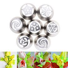 7 unids/set ruso tulipán Icing Piping boquillas decoración de la torta de la decoración consejos herramienta #82438(China (Mainland))