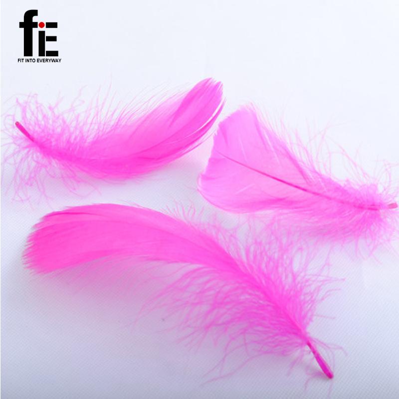 100 шт. природный перо гуся 10 см цветные перья красочные перо украшения свадебные DIY перья материальные аксессуары