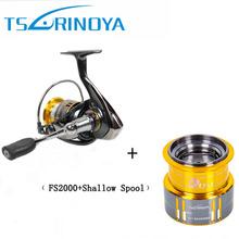 2016 Pesca Spinning Fishing Reel Tsurinoya FS2000 Deep Spool9+1BB 5.2:1 Metal Spool Aluminium Handle(China (Mainland))