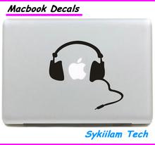 Para a apple fone de ouvido criativo pintura adesivo da pele para o macbook air 11 13 Pro 13 15 Retina 13 17 Computador Portátil Vinyl Decal(China (Mainland))