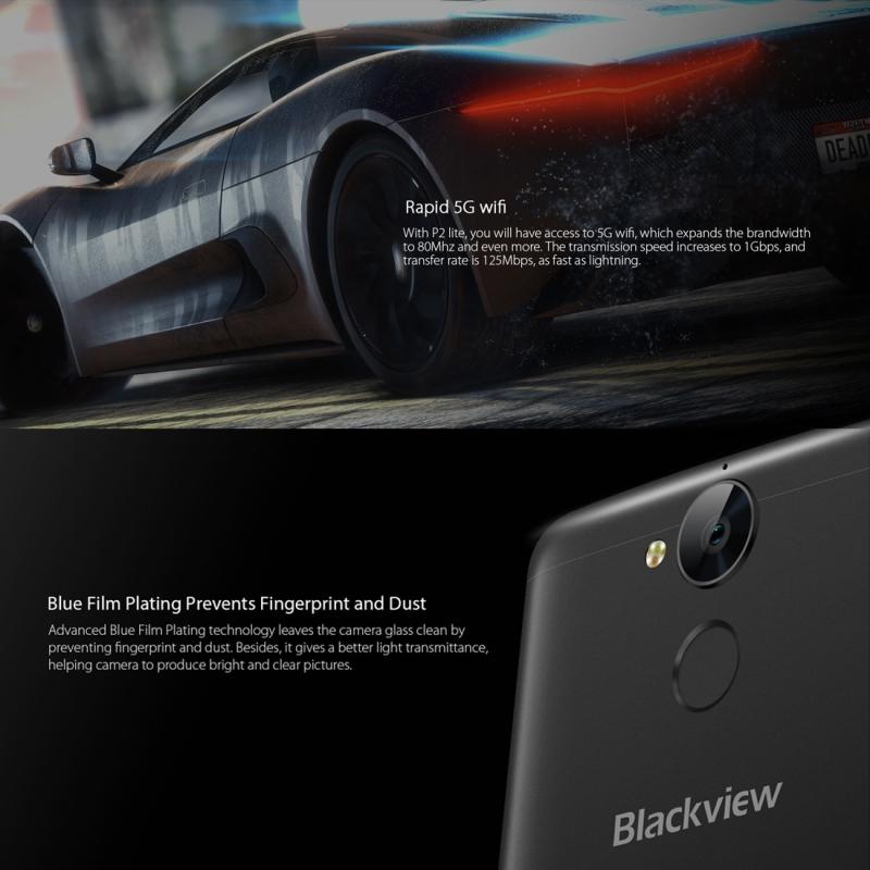 Original Blackview P2 lite 4G Mobile Phone 5.5″ FHD 3GB RAM 32GB ROM MTK6753 Octa Core Android6.0 Camera 13MP 6000mAh Smartphone