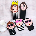 3D Cartoon Monkey Love Heart Eyes Crown Simian Case Soft Silicone Back Cover For Samsung Galaxy