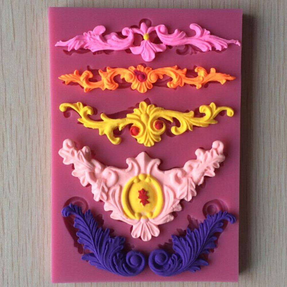 Beautiful Flower shape Chocolate Candy Jello 3D Silicone Fondant Lace Mold Mould Cake Decoration Y021(China (Mainland))