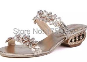 ! new 2015 round head low buckles leisure diamond flat sandals - 4 2 store