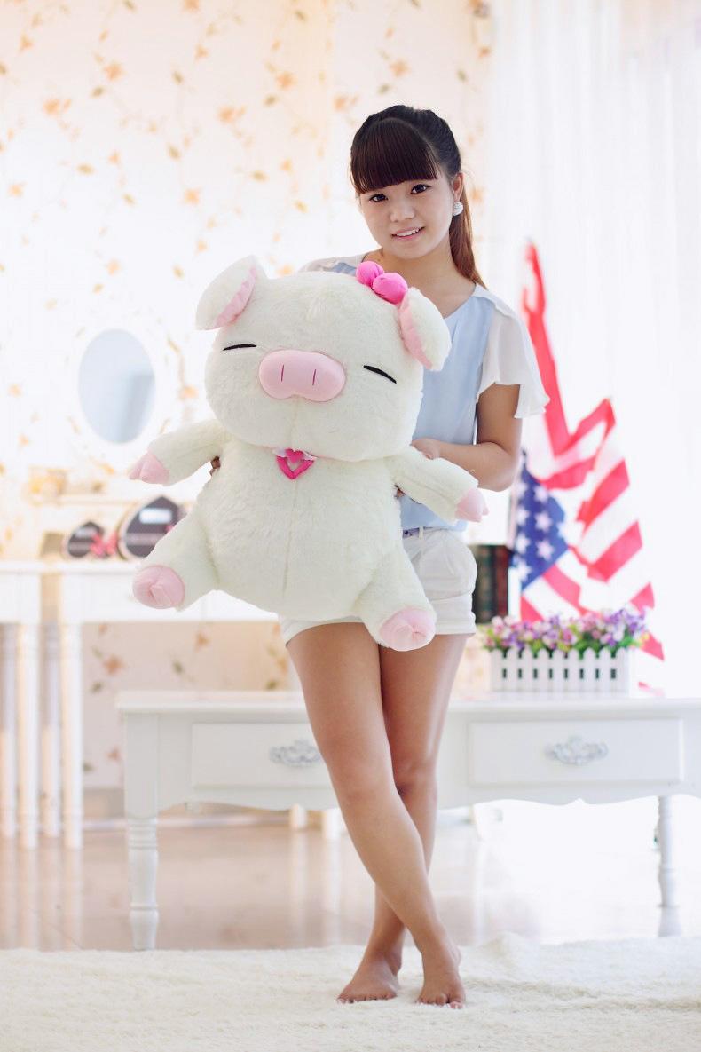 60cm One Piece Big Sitting Pig Plush Toys Stuffed Birthday Gift(China (Mainland))