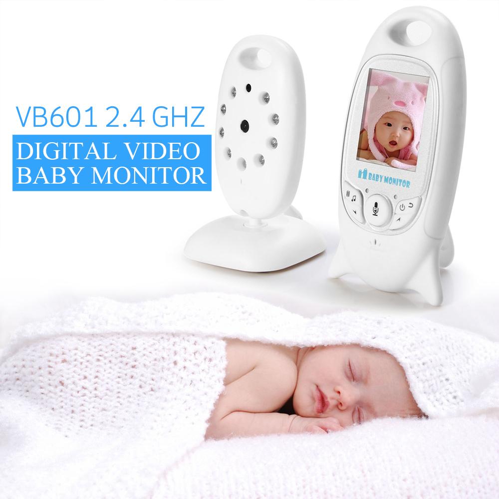 Wireles Baby Radio Babysitter VB601 Infant 2.4 GHz Digital Video Baby Monitor with Night Music Temperature Display Radio Nanny(China (Mainland))