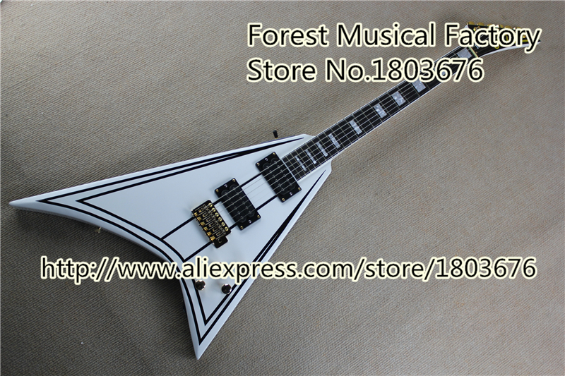 Custom Shop China Randy Rhoads Signature Jackson Flying V Electric Guitar With Ebony Fretboard Free Shipping(China (Mainland))
