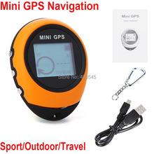 5pcs Sport Handheld Keychain PG03 Mini GPS Navigation USB Rechargeable Outdoor Travel GPS Navigator Compass(China (Mainland))