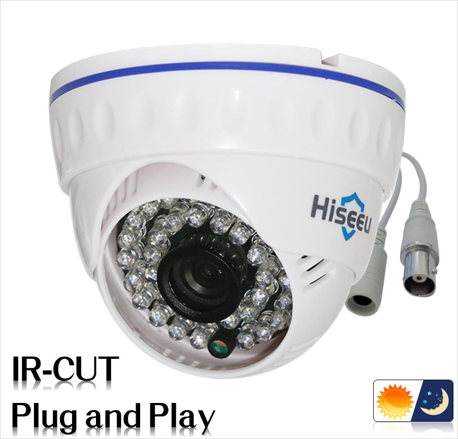 720P 960P 1080P Family Mini Dome Security Analog Camera ONVIF 2.0 indoor IR CUT Night Vision P2P Plug and Play