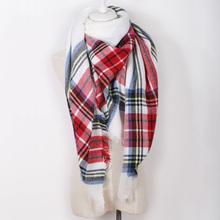 Za Brand Cashmere Scarf Plaid Designer Acrylic Blanket wrap Warm Winter Scarf Shawl For women(China (Mainland))