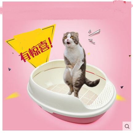 Small grid basin of cat litter Three layers of the cat toilet Pet cat supplies(China (Mainland))