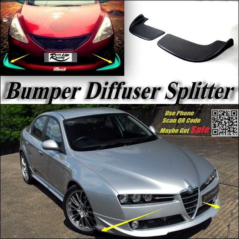 Car Splitter Diffuser Bumper Canard Lip For Alfa Romeo 159 AR 2005~2016 Tuning Body Kit / Front Deflector Fin Chin Decline Body<br><br>Aliexpress
