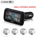 CAREUD Digital Tire Pressure Monitoring System 12V Real Time Professional Wireless Smart TPMS Alarm With Small