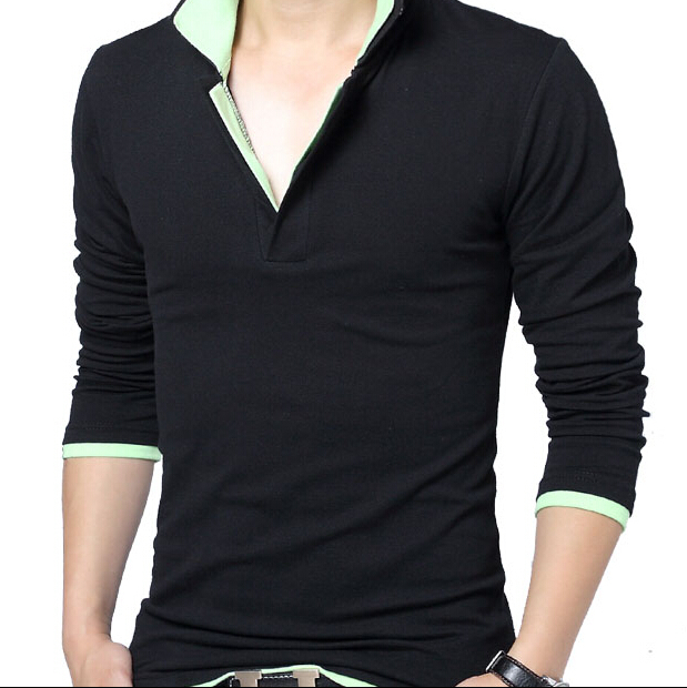 Cotton Casual Outdoor Sports T Shirt Mens Long Sleeve T-shirt Famous Brand Top Designer Men Fashion Polyester 2015 Autumn(China (Mainland))