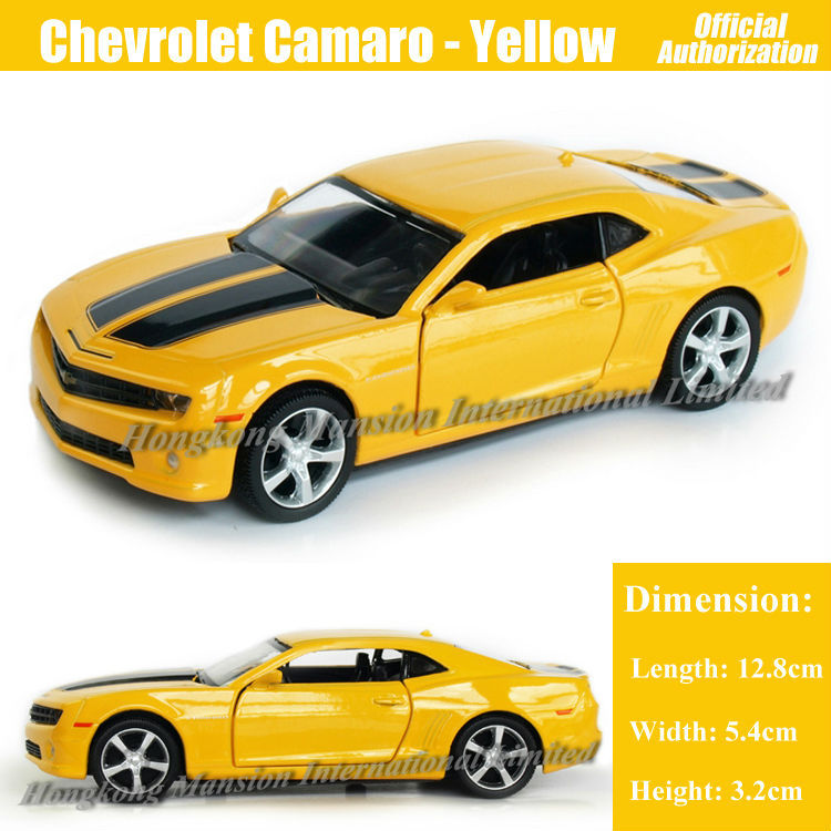 1:36 Scale Diecast Alloy Metal Car Model For Chevrolet Camaro Bumblebee Collection Model Pull Back Car Toys - Yellow(China (Mainland))