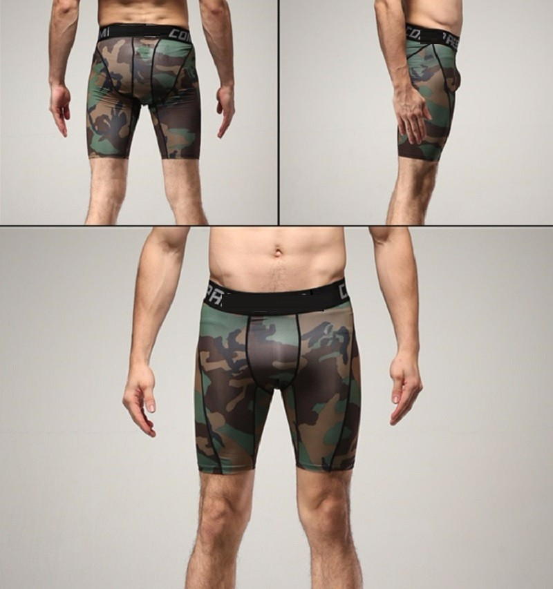 Tights Men Spandex Quick Dry Shorts (1)