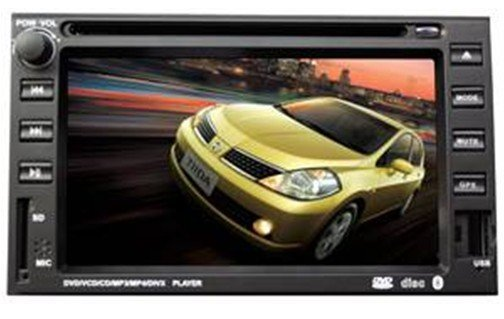 "2din 7"" NISSAN car player with DVD, Radio, Bluetooth,MP5, IPOD, USB"